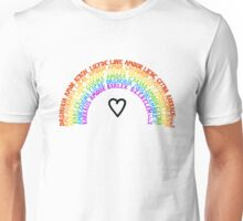 "LGBTQ+ Rainbow ""Love"" multi-language  Unisex T-Shirt"
