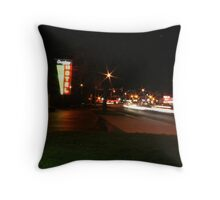 Street night lights Throw Pillow