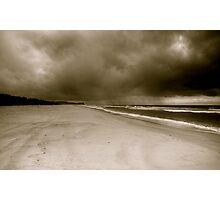 storm on a beach Photographic Print
