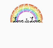 "LGBTQ+ Rainbow ""Love is Love"" multi-language  Unisex T-Shirt"
