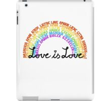 "LGBTQ+ Rainbow ""Love is Love"" multi-language  iPad Case/Skin"