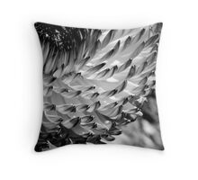 straw flower in black and white Throw Pillow