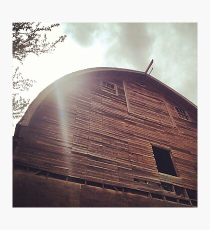 Rustic A Frame Barn Photographic Print