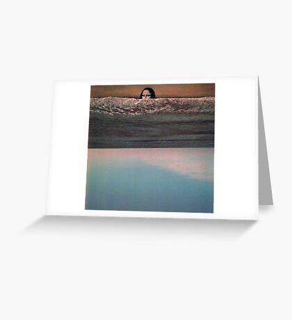 Collage: Mona Lisa Sea. Greeting Card