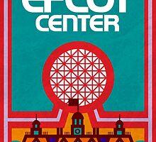Retro Epcot Center Map Poster by e82designs