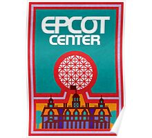 Retro Epcot Center Map Poster Poster