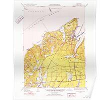 Massachusetts  USGS Historical Topo Map MA Vineyard Haven 352286 1951 31680 Poster