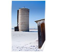 Wintry Silo Poster