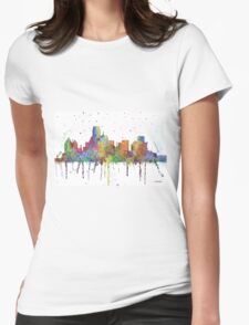 Dallas, Texas Skyline Womens Fitted T-Shirt