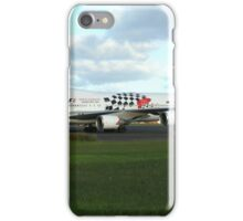 Qantas 747 on Easter Island runway iPhone Case/Skin
