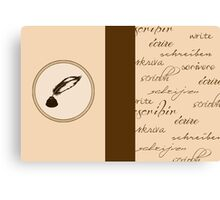 Writing Journal Canvas Print