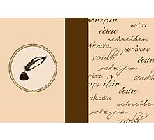 Writing Journal Photographic Print