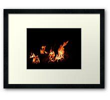 Friendly Flames Framed Print