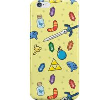 Zelda Inspired Item Bag Pattern iPhone Case/Skin