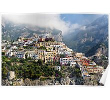 Hillside Houses of Positano Poster