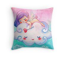 Sleeping Little Angel Cherub & Cloud  Throw Pillow