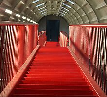 Long Red Stairs by Angela  Waite