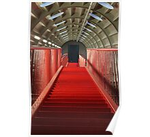 Long Red Stairs Poster