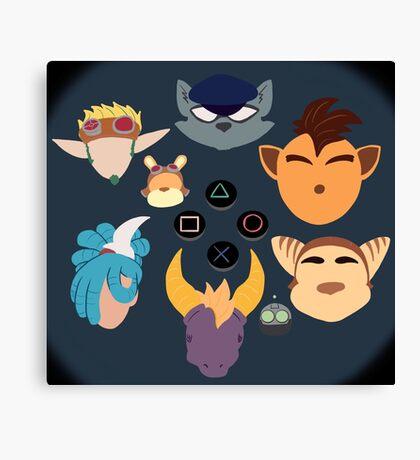 Sony Mascots Canvas Print