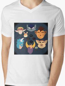 Sony Mascots Mens V-Neck T-Shirt