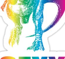 Rainbow Dinosaur: Sexy Rexy Sticker