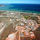 """Denham Town Aerial"" Shark Bay, Western Australia by wildimagenation"