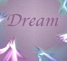 Circle Ribbon Dream Sticker