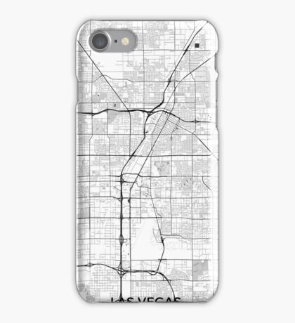 Las Vegas Map Gray iPhone Case/Skin
