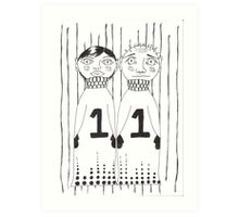 mr & mrs Art Print