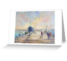 Gem Pier in Williamstown (Australia) Greeting Card
