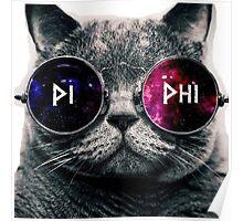 Pi Beta Phi Galaxy Cat Poster