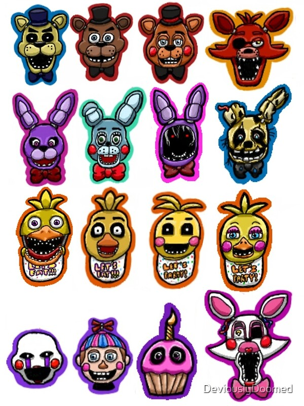 Five Nights at Freddy's Character Sheet by DeviouslyDoomed