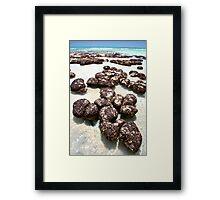 """Stromatolites in Hamelin Pool II"" Shark Bay, Western Australia Framed Print"