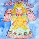 Christmas Angel Ornament by Laura J. Holman