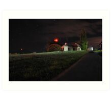 House on a hill next to the airport Art Print