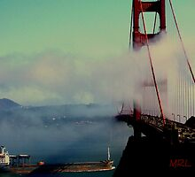 Golden Gate Bridge View from Sausalito by Michael Lehman