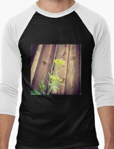 There's beauty Everywhere Even in a Weed Men's Baseball ¾ T-Shirt