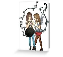 The Ungrateful & The Fairy Godmother (Split Reality) Greeting Card