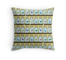 Zelda Inspired Fairy Bottle Pattern Throw Pillow