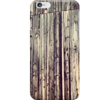 Distressed Barn with Yellow Wildflower iPhone Case/Skin