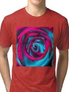 Velvet psychedelia - Rose design Tri-blend T-Shirt