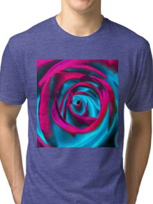 Velvet psychedelia - Rose design Tri-blend T-Shirt