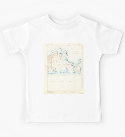 Massachusetts  USGS Historical Topo Map MA Marthas Vineyard 352841 1894 62500 Kids Tee