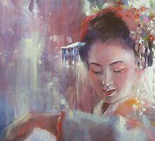 Maiko.....「舞妓」dance of moonflower..夕顔の舞 by vasenoir