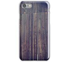 Distressed Old Barn with Yellow Wildflower iPhone Case/Skin