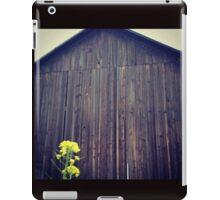 Distressed Old Barn with Yellow Wildflower iPad Case/Skin