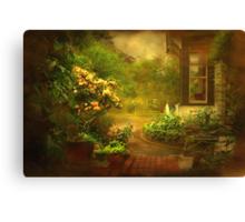 """The Little Brick Pathway ..."" Canvas Print"