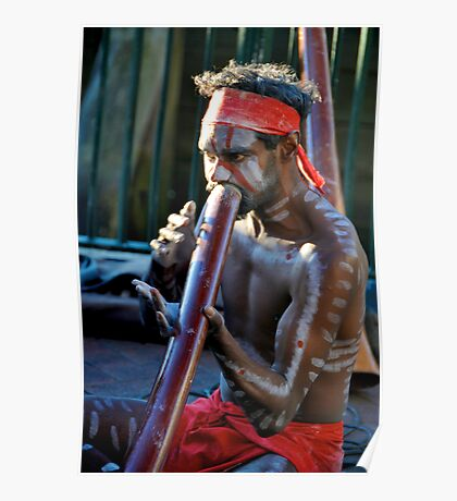 Didgeridoo Musician Poster