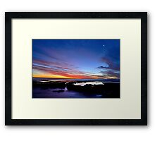 Sunset at Avalon Beach Framed Print
