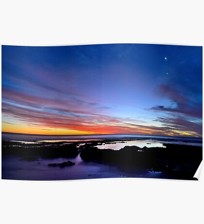 Sunset at Avalon Beach Poster